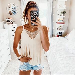 BUTTER YELLOW LACE TANK